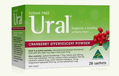 ural cranberry effervescent powder