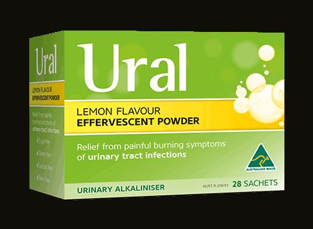ural effervescent powder lemon